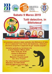 Detective in biblioteca @ Biblioteca di Salò | Salò | Lombardia | Italia
