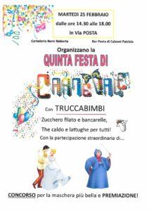 Quinta festa di Carnevale a Vobarno @ Vobarno | Vobarno | Lombardia | Italia