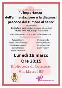 Alimentazione e diagnosi precoce @ Biblioteca Concesio | Concesio | Lombardia | Italia