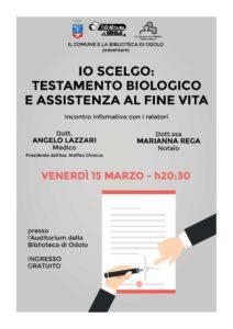Io scelgo: testamento biologico  e assistenza a fine vita @ Biblioteca di Odolo | Odolo | Lombardia | Italia