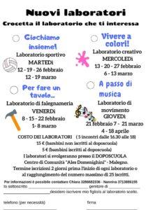 """Laboratori creativi per bambini @ DOPOSCUOLA Centro di Comunità """"Ales Domenighini"""" - Malegno."""