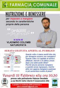 Nutrizione e benessere @ Farmacia Comunale Carpenedolo
