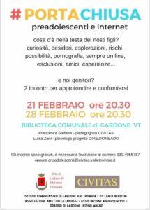 #PORTACHIUSA preadolescenti e internet @ Biblioteca Comunale Gardone VT