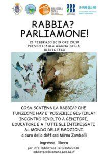 Rabbia? Parliamone @ Biblioteca di Salò | Salò | Lombardia | Italia