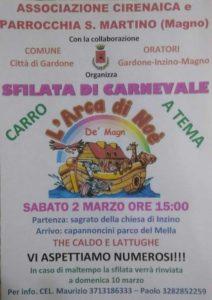 Carnevale a Gardone Val trompia @ ritrovo sagrato chiesa Inzino