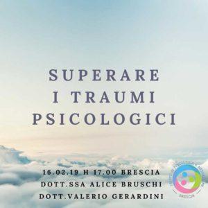 Superare i traumi psicologici @ Studio di Psicologia e Mediazione Familiare Brescia | Brescia | Lombardia | Italia