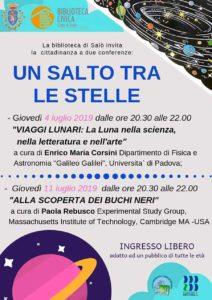 Un salto tra le stelle a Salò @ Biblioteca di Salò | Salò | Lombardia | Italia