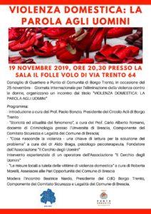 Violenza domestica: la parola agli uomini @ Spazio Il Folle Volo | Brescia | Lombardia | Italia