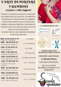 L'arte di portare i bambini @ vedi testo | Bovezzo | Italia