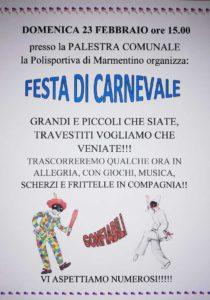 Carnevale a Marmentino @ palestra di Marmentino