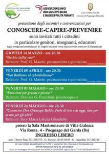 Conoscere, capire e prevenire @ Sala Mastromauro di Villa Galnica