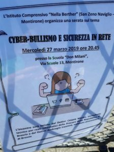 Cyberbullismo e sicurezza in rete @ Scuola Don Milani Montirone