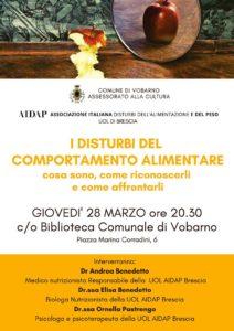 I disturbi del comportamento alimentare @ Biblioteca Vobarno | Vobarno | Lombardia | Italia