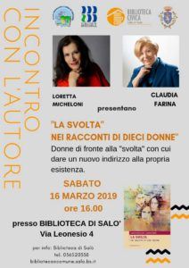 La svolta nei racconti di dieci donne @ Biblioteca  di Salò | Salò | Lombardia | Italia