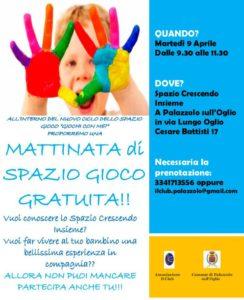 Spazio Crescendo Insieme - mattinata gioco gratuito @ Spazio Crescendo Insieme Palazzolo