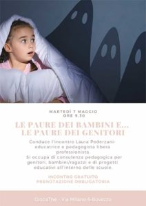 Le paure dei bambini e…le paure dei genitori a Giocathè @ Giocathè | Bovezzo | Italia
