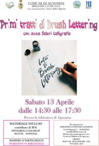 Primi tratti di brush lettering @ Biblioteca di Agnosine | Agnosine | Lombardia | Italia
