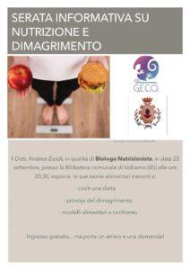 Nutrizione e dimagrimento - serata informativa  a Vobarno @ Biblioteca Vobarno | Vobarno | Lombardia | Italia