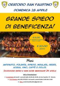 Grande spiedo di beneficienza @ Oratorio San Faustino Brescia