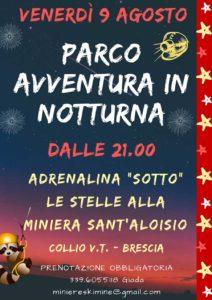 Parco avventura in notturna @ Miniera S. Aloisio | Pezzaze | Lombardia | Italia