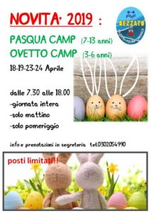 Pasqua e Ovetto Camp @ Sporting Club Rezzato