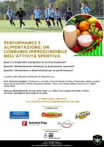 Performance e alimentazione @ Aula Magna dell'Istituto Comprensivo di Ome