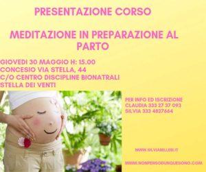 Meditazione in preparazione al parto @ CENTRO DISCIPLINE BIONATURALI STELLA DEI VENTI