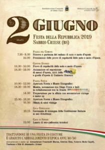Festa della Repubblica in costume d'epoca @ Sabbio Chiese