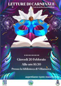 Letture di Carnevale a Villanuova @ Biblioteca Villanuova | Villanuova Sul Clisi | Lombardia | Italia