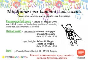 Mindfulness per bambini e adolescenti @ Studio logopedia dott.ssa Colombo