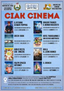 Ciak Cinema @ Oratorio di Manerba