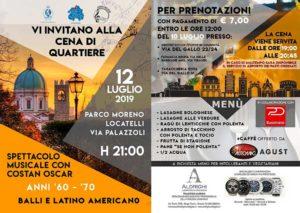 Cena di Quartiere @ Parco Moreno Locatelli | Brescia | Lombardia | Italia