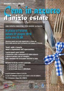 Cena in azzurro @ Piazza di Folzano
