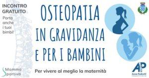 Osteopatia in gravidanza e per bambini @ Mamma Sportiva
