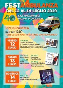 Festambulanza a Sale Marasino @ piazzale scuole medie