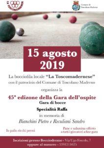 Gara dell'ospite a Toscolano @ Bocciofila la Toscomadernese