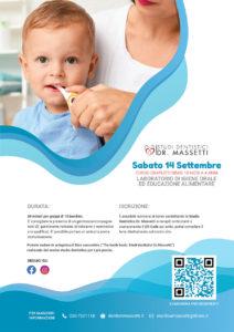 Laboratorio di igiene orale per bambini 18 mesi - 4 anni @ Studio dentistico dr. Massetti