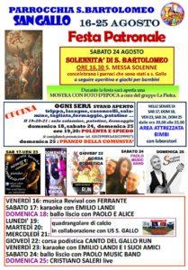 Festa di San Bartolomeo a Botticino @ Parrocchia San Bartolomeo San Gallo
