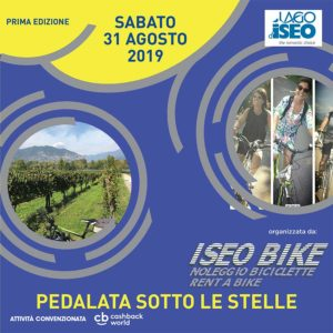 Pedalata sotto le stelle a Iseo @ Camping del Sole