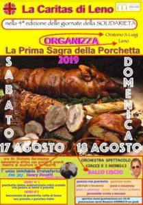 Sagra della porchetta Leno @ Oratorio San Luigi Leno