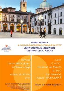 Il volto delle dimore storiche in città: Visita guidata in lingua @ partenza Centro Studi AdMaiora