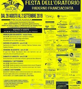 Festa oratorio Paderno Franciacorta @ Oratorio Paderno Franciacorta