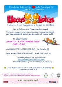 Hous&Lotus: presentazione e lezioni di prova a Erbusco @ Biblioteca di Erbusco
