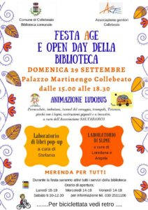 Festa Age e open day della biblioteca @ Biblioteca Collebeato