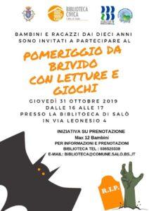 Pomeriggio da brivido @ Biblioteca Salò | Salò | Lombardia | Italia