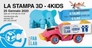 La stampa 3D - 4Kids al FabLab Brescia @ FabLab Brescia | Brescia | Lombardia | Italia