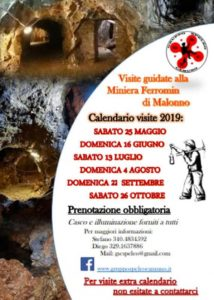 Visita guidata alla Miniera di Malonno @ Miniera Ferromin Malonno