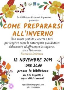 Come prepararsi all'inverno ad Agnosine @ Biblioteca di Agnosine | Agnosine | Lombardia | Italia