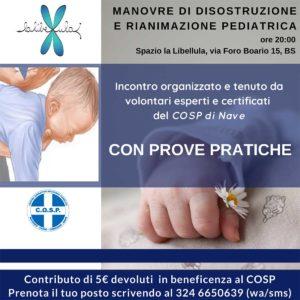 Manovre di disostruzione pediatrica @ Spazio La Libellula | Brescia | Lombardia | Italia