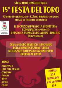 Festa del Toro a San Zeno @ palestre comunali